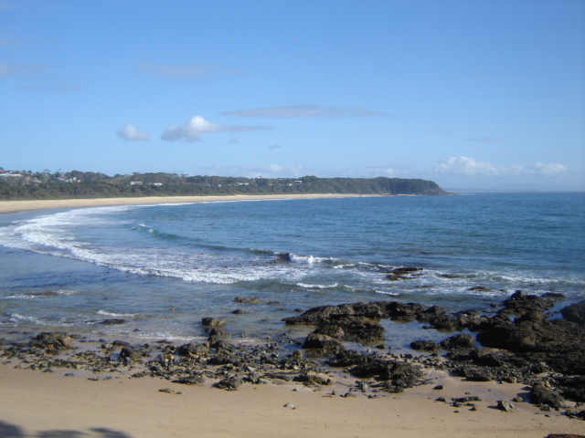Black Head beach from the surf club