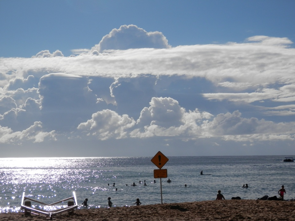 Sun and clouds over Terrigal