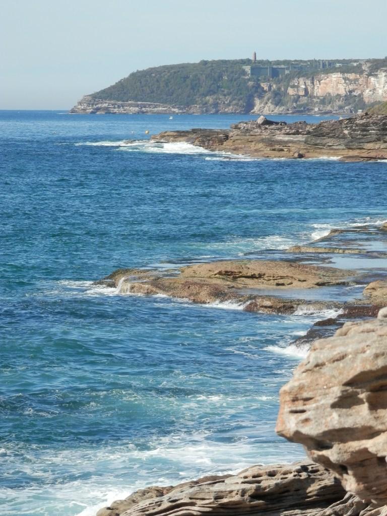 Cliffs along the course