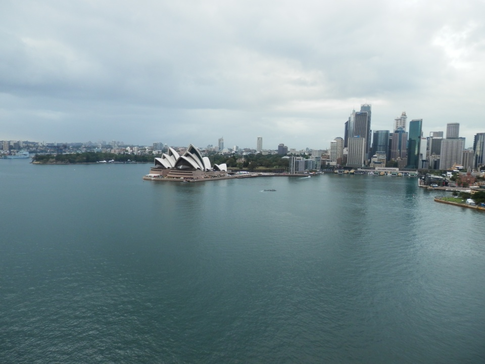 Circular Quay, the Opera House and the calm water