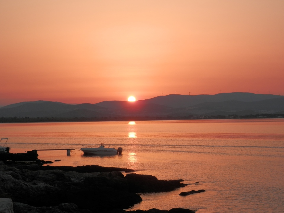 Dawn over the mainland