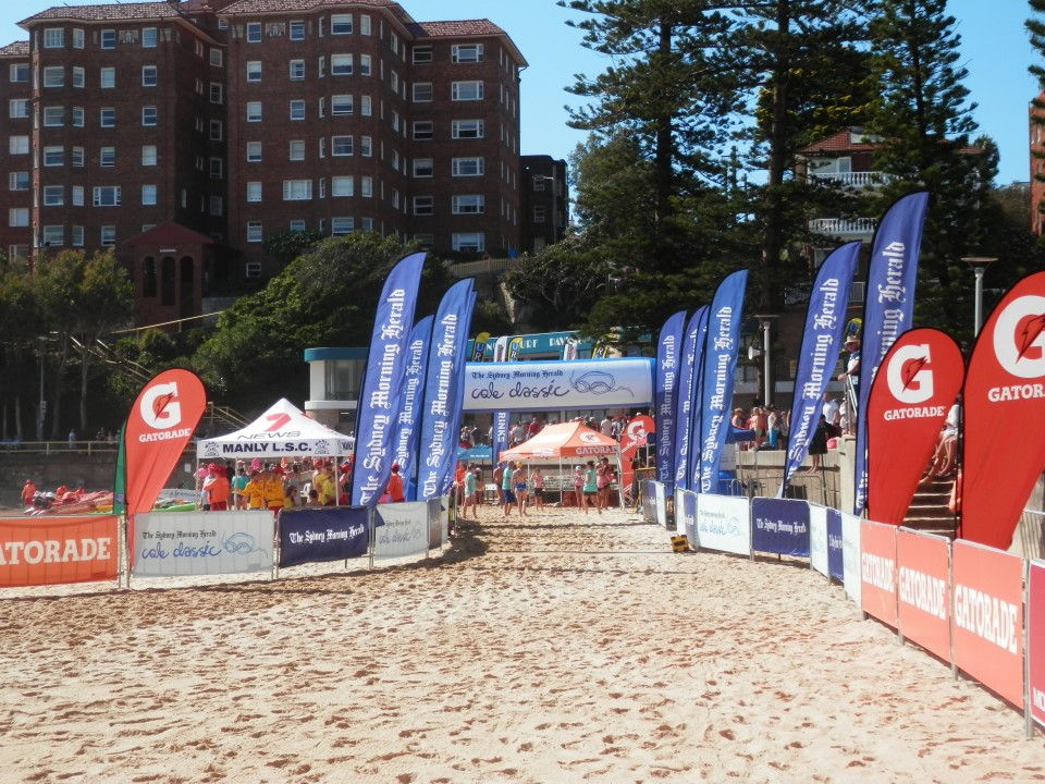 The finish line at Manly Beach