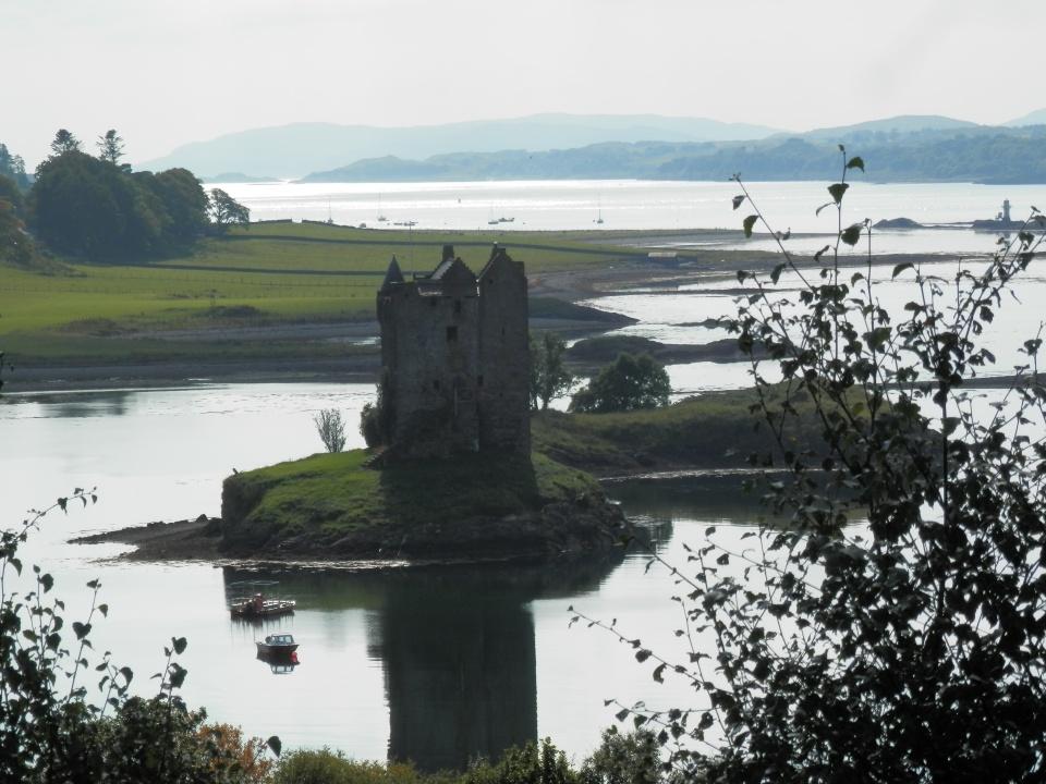 Castle Stalker in Loch Laich, an inlet of Loch Linnhe