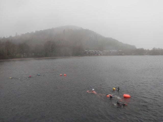 New Years Day at Luss, cool wet and windy