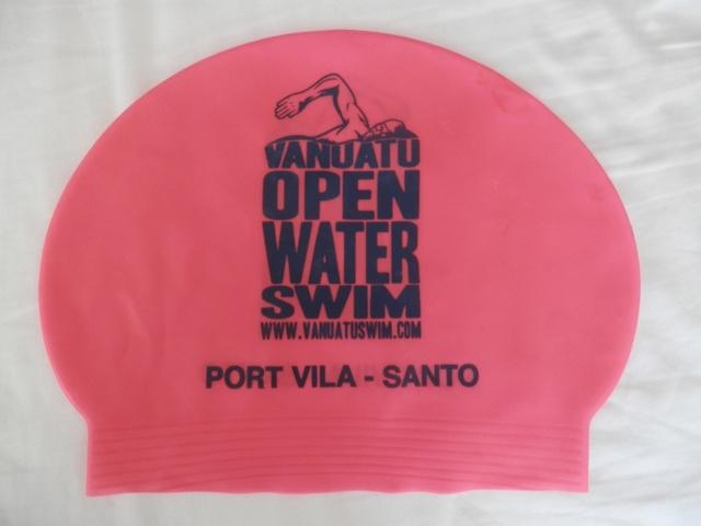 Swim cap from rces in Vanuatu 2013