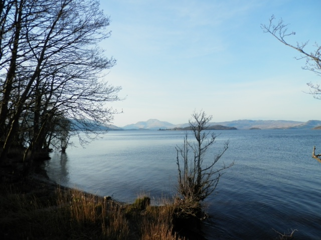 Duck Bay with Ben Lomond in the distance