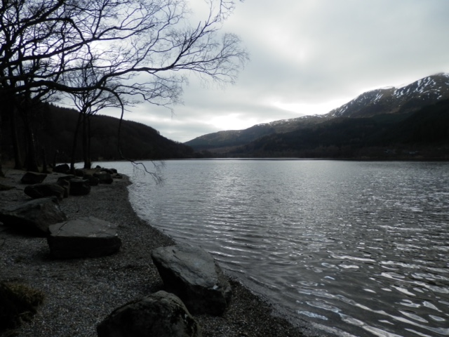 Loch Lubnaig looking grim for a swim