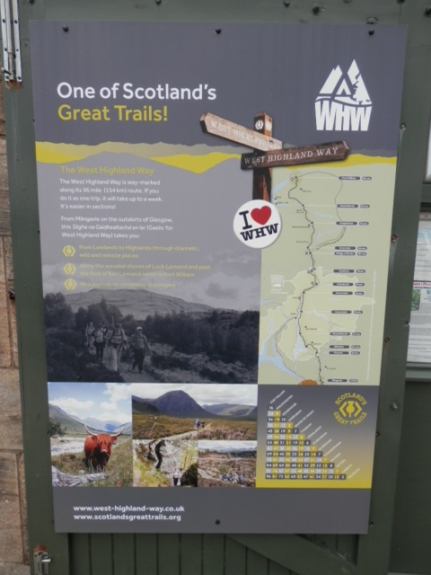 A map of the West Highland Trail