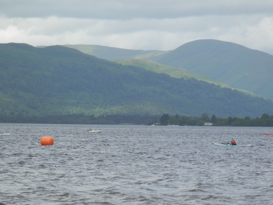 Loch Lomond with the green hills