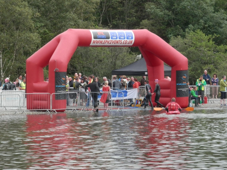 Finish Arch at the Epic Coniston Event
