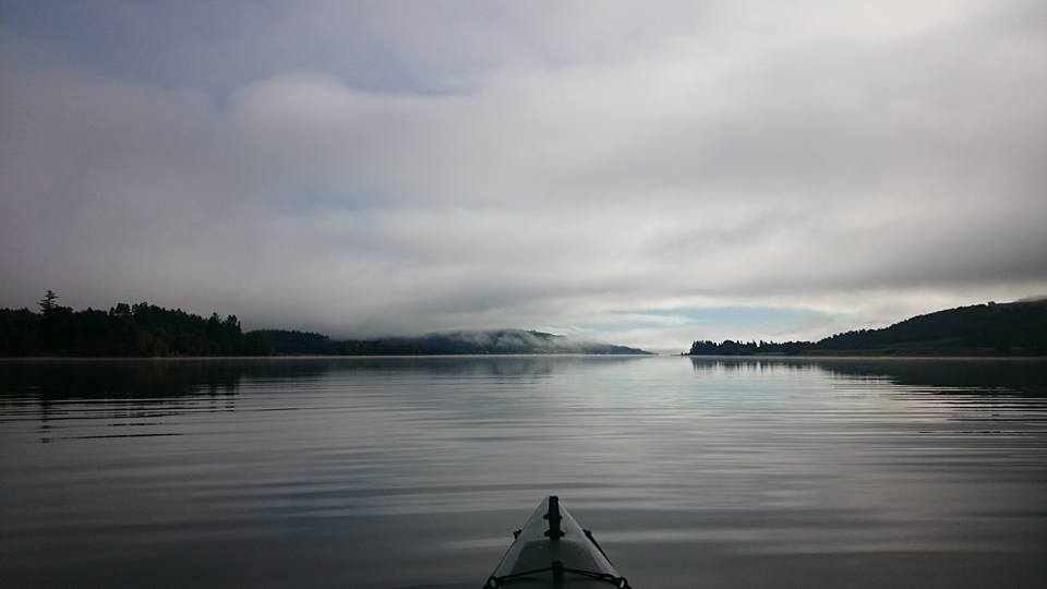 The view down the loch after the fog lifted
