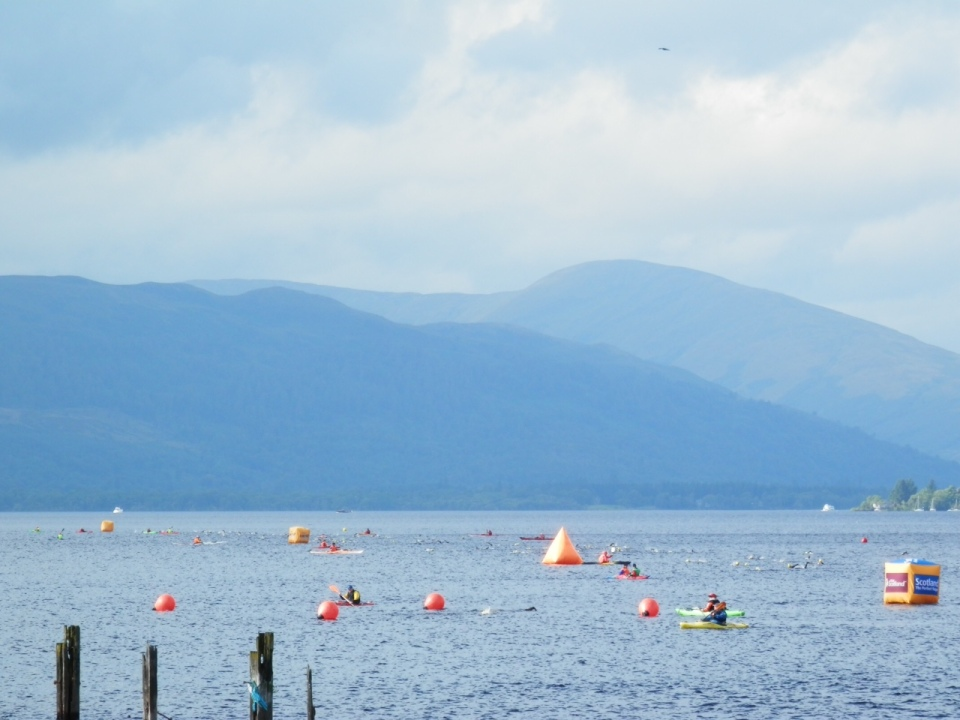 Part of the course of the Great Scottish Swim on Loch Lomond