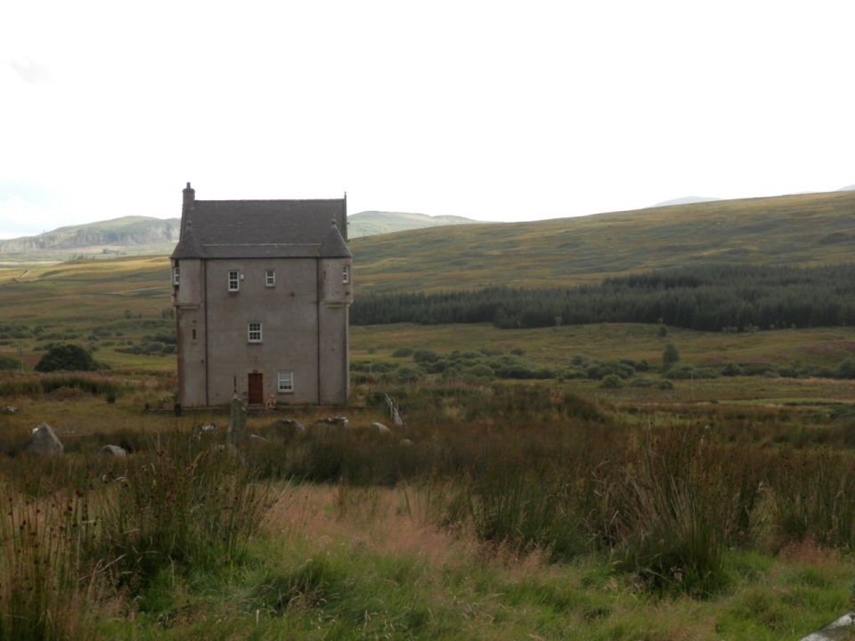 A lonely house on the road to Loch Ken