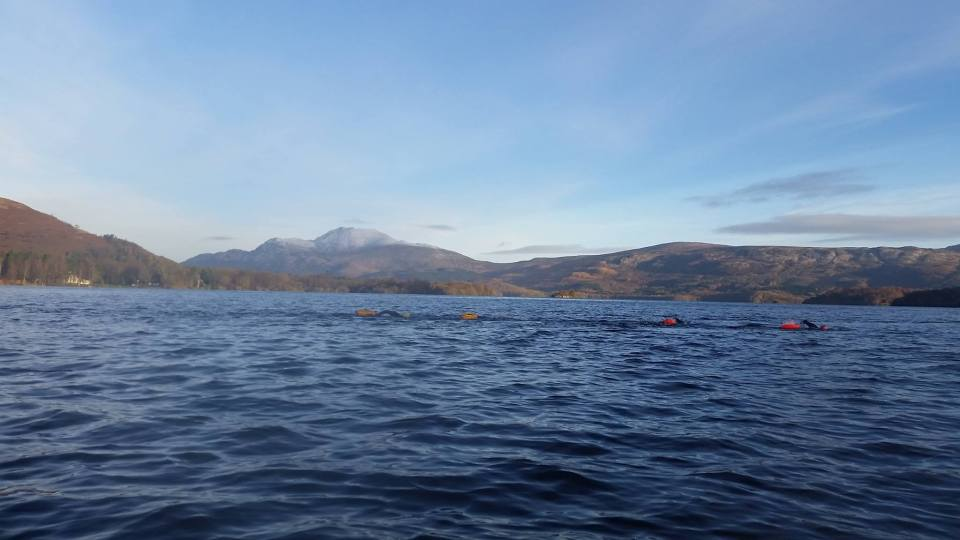Swimmers across Ben Lomond