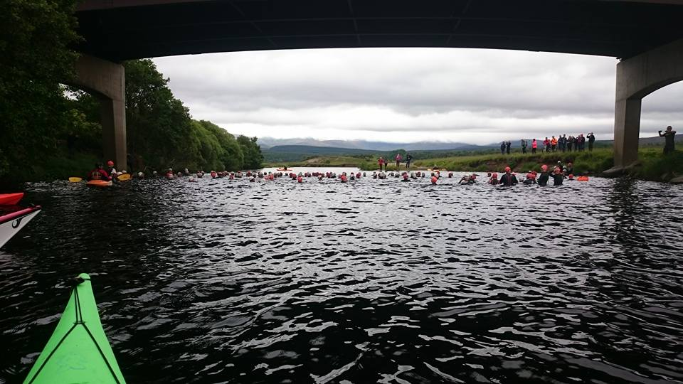 The start of the race at Kingussie