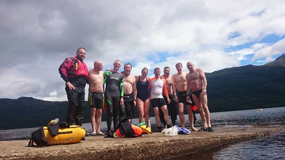 The gang at the finish at Tarbet